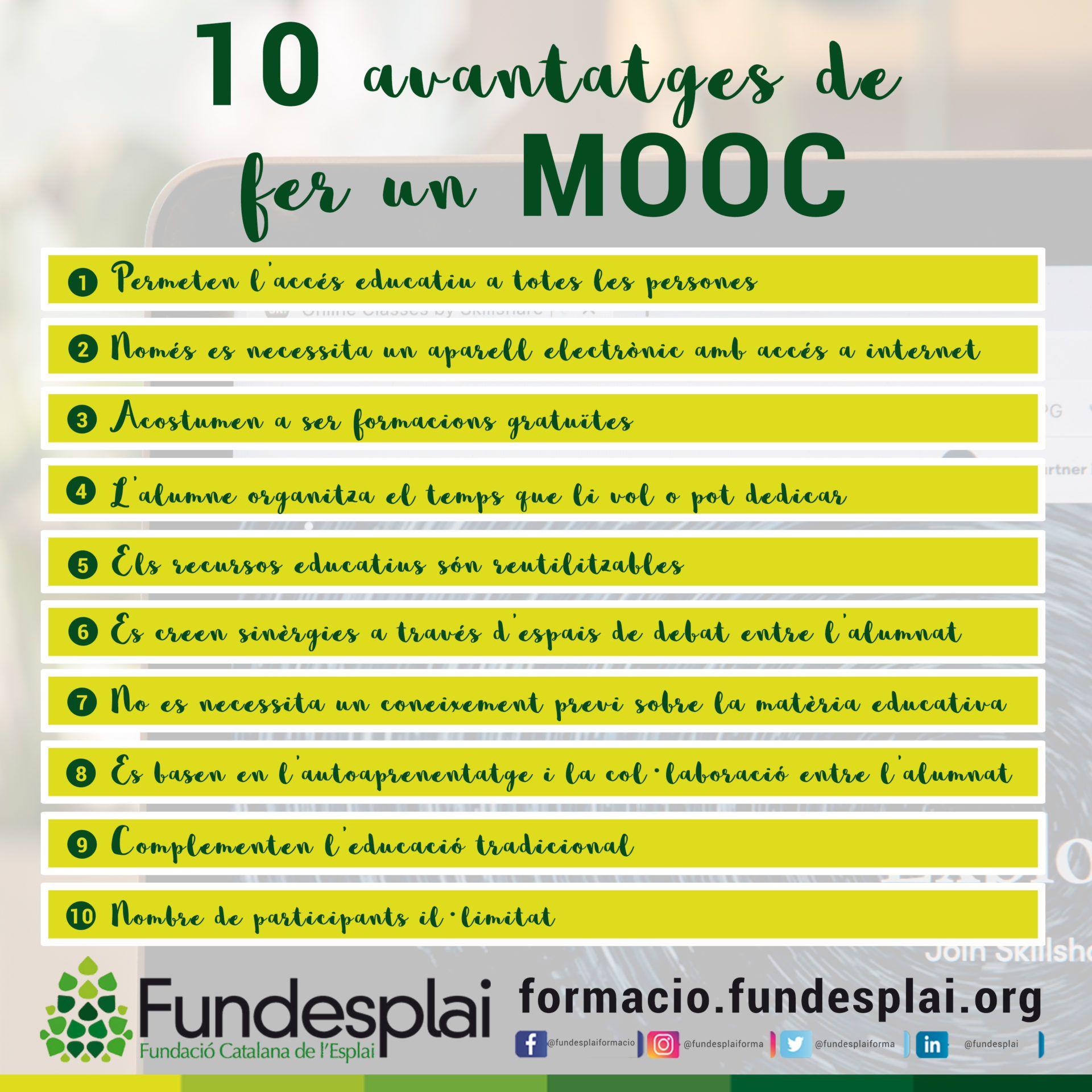 10 avantatges de fer un MOOC